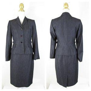 Calvin Klein Dark Denim Skirt Suit Formal Career 4